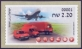 Airplane and Postal Vehicles, ATM self-adhesive stamp, MINT, 2015