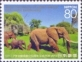 African elephant, stamp, MINT, 2013
