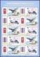 Goshawk and Siamese Fireback, Joint Issue Thailand-Korea, souvenir sheet 10 stamps, 2015