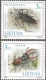 The Red Book of Lithuania - Beetles, set of 2 stamps, MINT, 2003