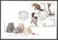 Cats, FDC with stamps, 2007