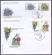 Flowers, set of 2 FDCs, 2008