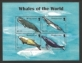 Whales of the World, souvenir sheet with 4 stamps, MINT, 2008