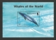 Whales of the World, souvenir sheet with 1 stamps, MINT, 2008