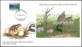Game Bird Habitat - Bobwhite quail (Colinus virginianus), FDC with souvenir sheet, 2012
