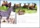 Southern Lechwe (Kobus leche), Zebra, Camel, postcard, 2012