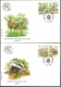 Protected Animal Species, set of 2 FDCs, 2008