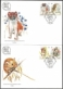 Protected Animal Species, set of 2 FDCs, 2009