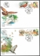 Native birds in cities, set of 2 FDCs, 2010