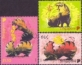 Year of the Tiger, set of 3 stamps, MINT, 2010