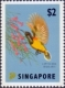 Green back Sunbird (Nectarinia jugularis), stamp, MINT, 2012