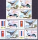 Goshawk and Siamese Fireback, Joint Issue Thailand-Korea, set of 4 stamps sets, MINT, 2015