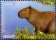 Capybara (Hydrochoerus hydrochaeris), stamp, MINT, 2015
