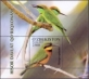 European Bee-eater (Merops apiaster), souvenir sheet, MINT, 2016