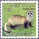 Steppe Polecat (Mustela eversmanii), stamp, 2016