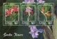 Garden Flowers, souvenir sheet with 3 stamps, MINT, 2014