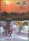 Horses, set of 2 FDCs, 1998