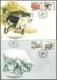 Farm Animals, set of 2 FDCs, 1999