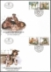 Abandoned Dogs, set of 2 FDCs, 2003