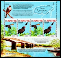 Turkey Vulture (Cathartes aura) and Toco Toucan (Ramphastos toco), set of 4 stamps, 2018